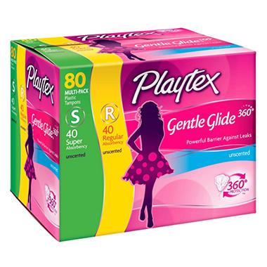Playtex Gentle Glide Tampons - 80 ct