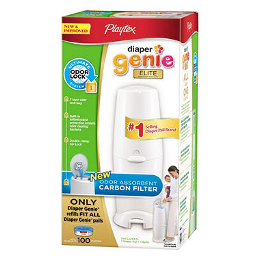 Diaper Genie Elite Pail System with 270-Count Refill