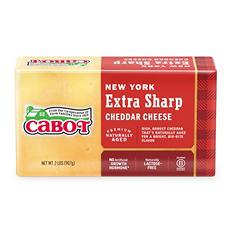 Cabot NY Extra Sharp Yellow Cheddar Cheese Brick (2 lbs.)