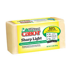Cabot Sharp Light Natural Vermont Cheddar (2 lb.)