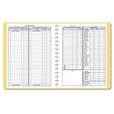 Dome - Bookkeeping Record, Tan Vinyl Cover, 128 Pages, 8 1/2 x 11 Pages