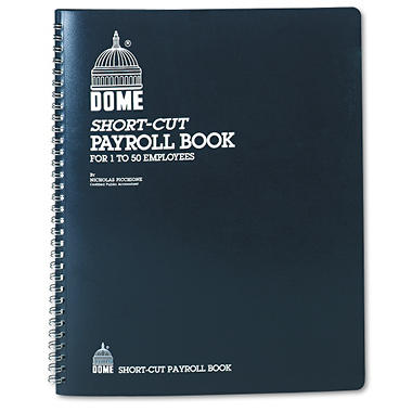 Dome - Payroll Record, Single Entry System, Blue Vinyl Cover, 8 3/4 x11 1/4 Pages
