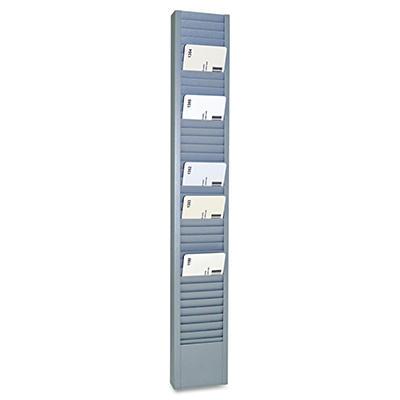 "SteelMaster - 40-Pocket Steel Swipe Card/Badge Rack -  2-15/16"" x 18-11/16"""