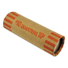 MMF Industries - Nested Preformed Coin Wrappers, Quarters, $10.00, Orange -  1000 Wrappers/Box