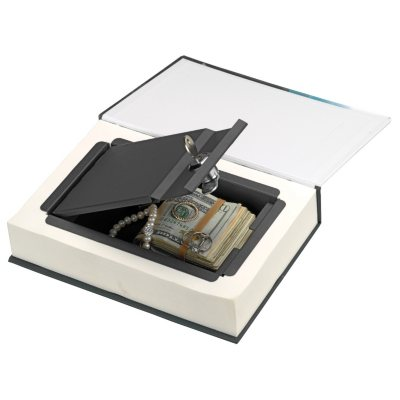 Real Feel Paper Page Book Safe 2-Pack w/Locking Steel Compartment