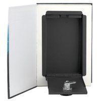 Real Feel Paper Page Book Safe 2-Pack with Locking Steel Compartment