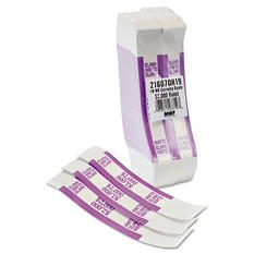 Coin-Tainer Company - Self-Adhesive Currency Straps, Violet, $2,000 in $20 Bills -  1000 Bands/Box