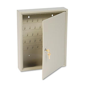 Numbered 2-Tag Locking Key Cabinet, 60-Key cap.