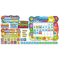 "TREND - Star Calendar Bulletin Board Set, Stars -  31 1/2"" x 26"""