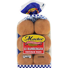 "Master 4"" Hamburger Buns - 12 ct."