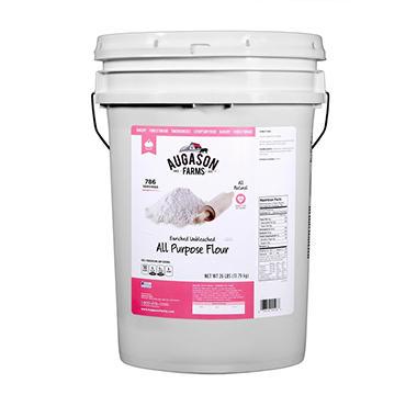 Augason Farms Enriched Unbleached Flour Pail - 26 lbs.