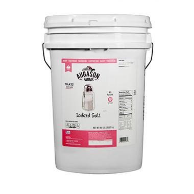 Augason Farms Iodized Salt Pail - 50 lbs.