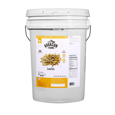 Augason Farms Lentils Pail - 40 lbs.