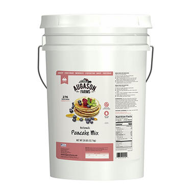 Augason Farms Buttermilk Pancake Mix Pail - 31 lbs.