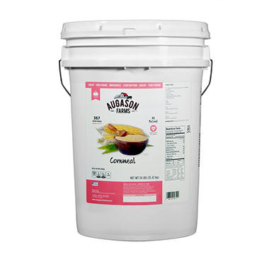 Augason Farms Cornmeal - 34 lb. Pail