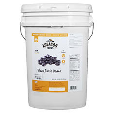 Augason Farms Black Turtle Beans (42 lb. pail)