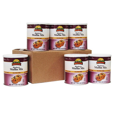 Augason Farms Gluten-Free Blueberry Muffin Mix - 6 pk.