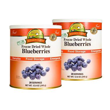 Augason Farms Freeze-Dried Whole Blueberries - 2 pk.