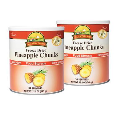 Augason Farms Freeze-Dried Pineapple Chunks - 2 pk.