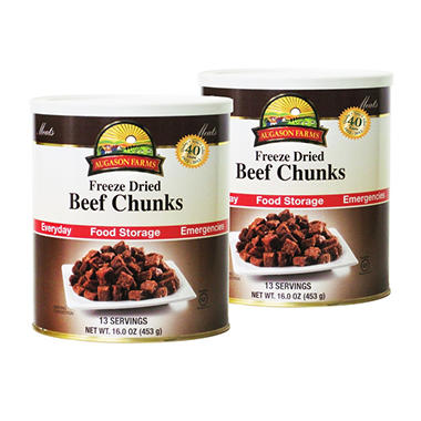 Augason Farms Freeze-Dried Beef Chunks - 2 pk.