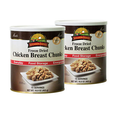 Augason Farms Freeze-Dried Chicken Chunks - 2 pk.