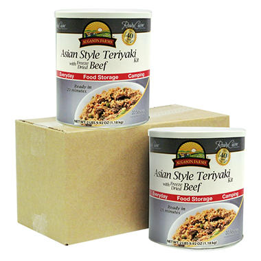 Augason Farms Asian Style Teriyaki with Freeze-Dried Beef - 2 pk.