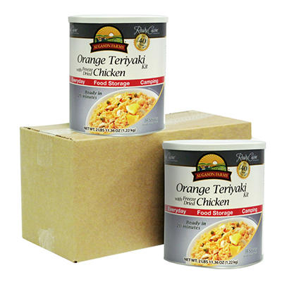 Augason Farms Orange Teriyaki with Freeze-Dried Chicken - 2 pk.
