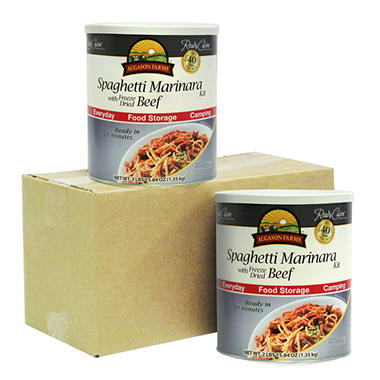 Augason Farms Spaghetti Marinara with Freeze-Dried Beef - 2 pk.