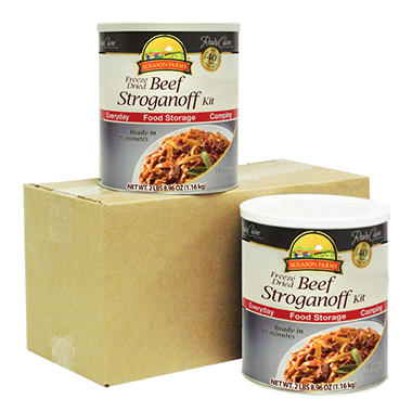 Augason Farms Freeze-Dried Beef Stroganoff - 2 pk.