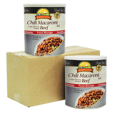 Augason Farms Chili Macaroni with Freeze-Dried Beef - 2 pk.