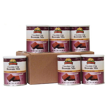 Augason Farms Gluten-Free Chocolate Brownie Mix - 6 pk.