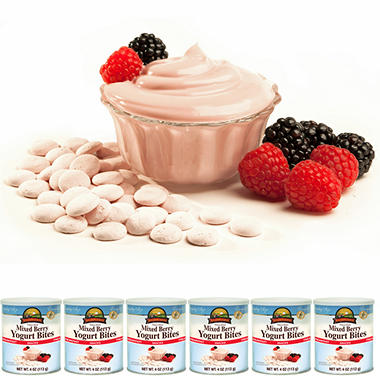 Augason Farms Freeze Dried Yogurt Bites - Mixed Berry - 6 ct.