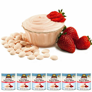 Augason Farms Freeze Dried Yogurt Bites - Strawberry - 6 ct.