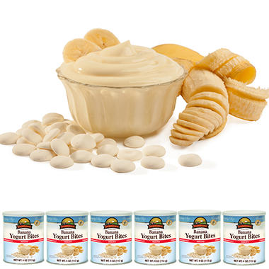 Augason Farms Freeze Dried Yogurt Bites - Banana - 6 ct.
