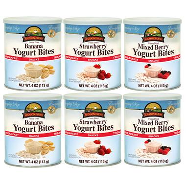 Augason Farms Freeze Dried Yogurt Bites - Variety Pack - 6 ct.
