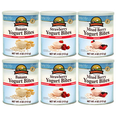 Augason Farms Freeze Dried Yogurt Bites - Variety Pack - 6 ct.