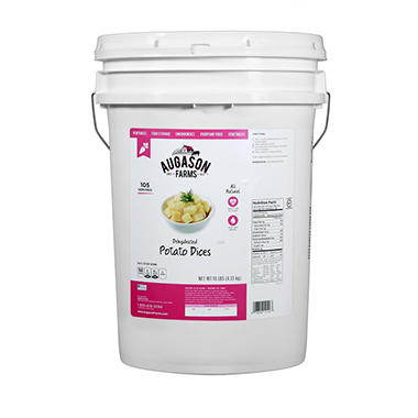 Augason Farms Dehydrated Potato Dices Pail - 10 lbs.