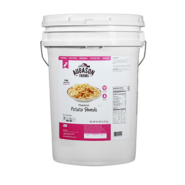 Augason Farms Potato Shreds (10 lb. pail)