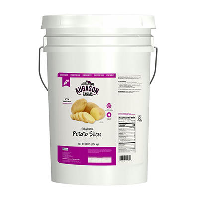Augason Farms Dehydrated Potato Slices - 10 lb. Pail