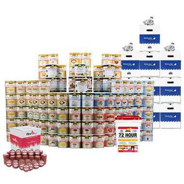 Augason Farms Emergency Food, Fire & Water Deluxe Storage Kit - 1 Person - 1 Year