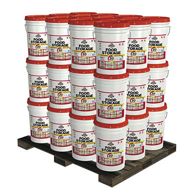 Augason Farms Emergency Food Storage All-in-One Pails Kit - 1 Year - 4 Person