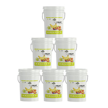 Augason Farms Ultimate Freeze Dried Fruit Variety Kit - 6 pails