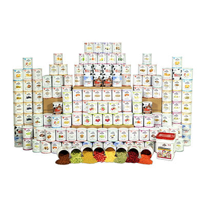Augason Farms Premium Emergency Food Storage Kit - 1 Year - 4 People