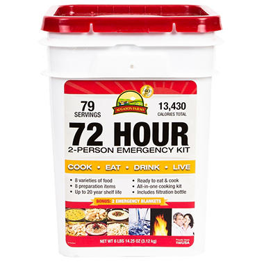 Augason Farms Emergency Pail (72 Hour, 2 Person)