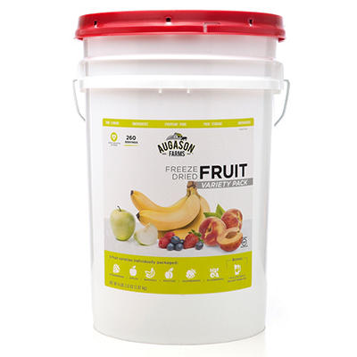 Augason Farms Freeze Dried Fruit Variety Pack - 4 lb., 9.6 oz. Pail