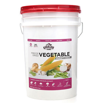 Augason Farms Freeze Dried Vegetable Variety Pack - 4 lb., 6.4 oz. Pail