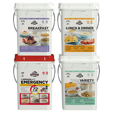 Augason Farms Emergency Food Supply Kit - 4 Pails