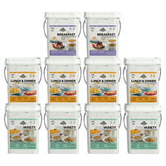 Augason Farms Month Emergency Food Supply Kit  (4 Person, 10 Pail)