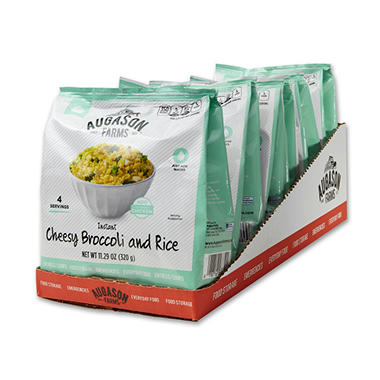 Augason Farms Pantry Pack, Cheesy Broccoli and Rice (6 Pouches)