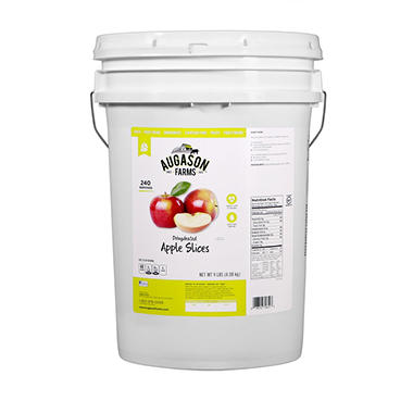Augason Farms Dehydrated Apple Slices Pail - 9 lbs.